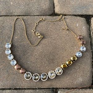 J.Crew Sparkle Bronze Brule Necklace